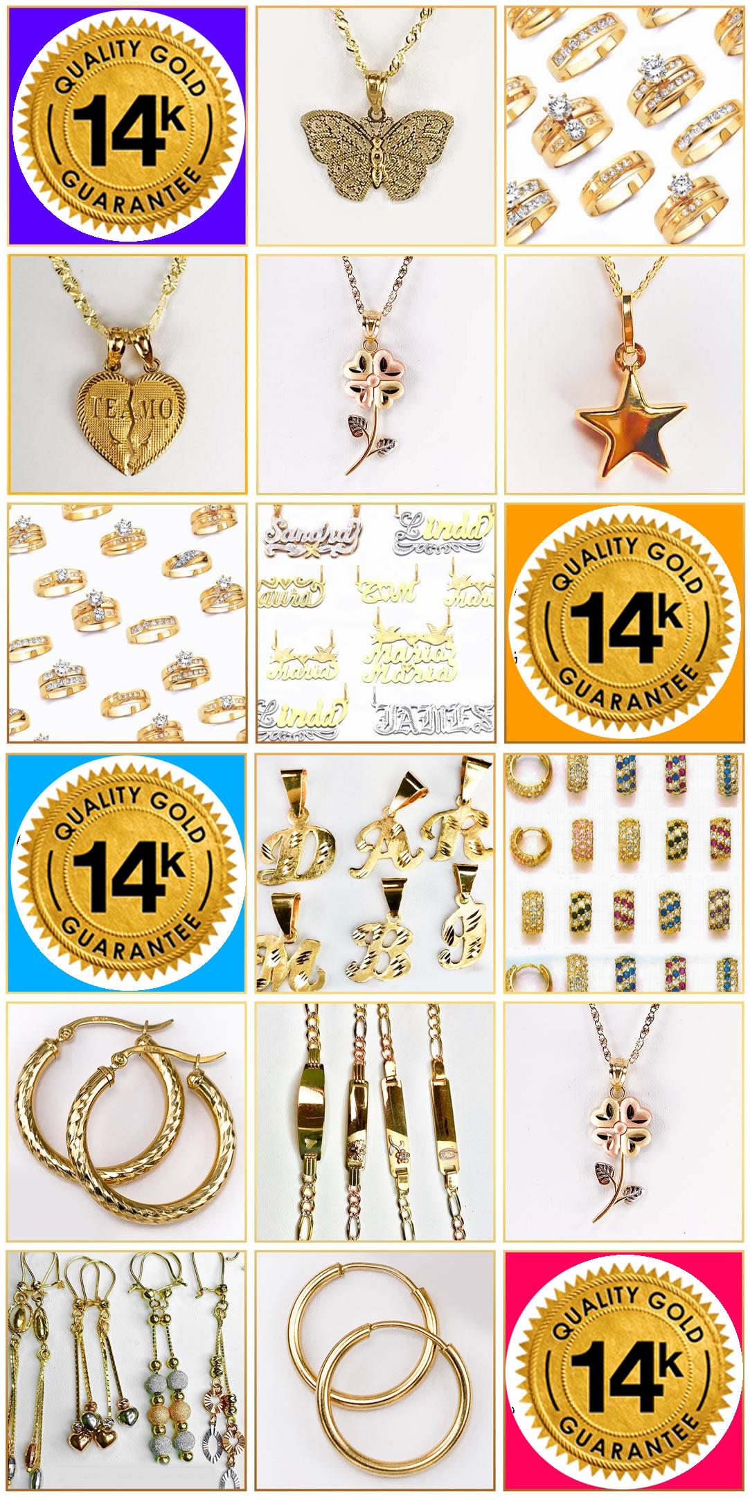 Oro 14 Kilates para vender por Catalogo